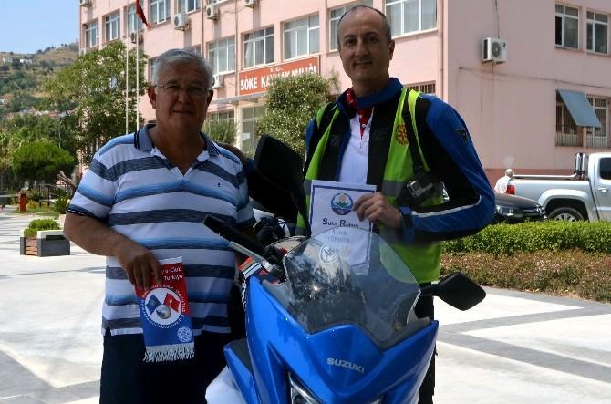 Motosikletçi Rotaryenlerin Yolu Söke'ye Düştü