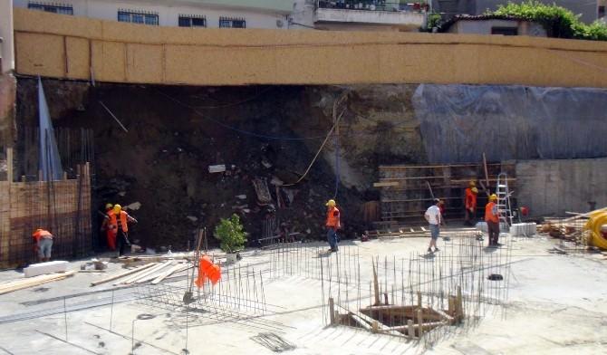 Tekirdağ'da İnşaat Alanında Meydana Gelen Göçük Nedeniyle Güvenlik Önlemi Alındı