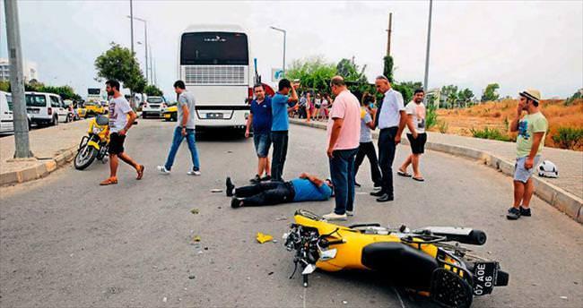 Yaralı sürücünün sinyal kavgası