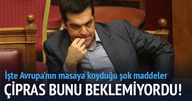 Yunanistan için çok sert önlemler