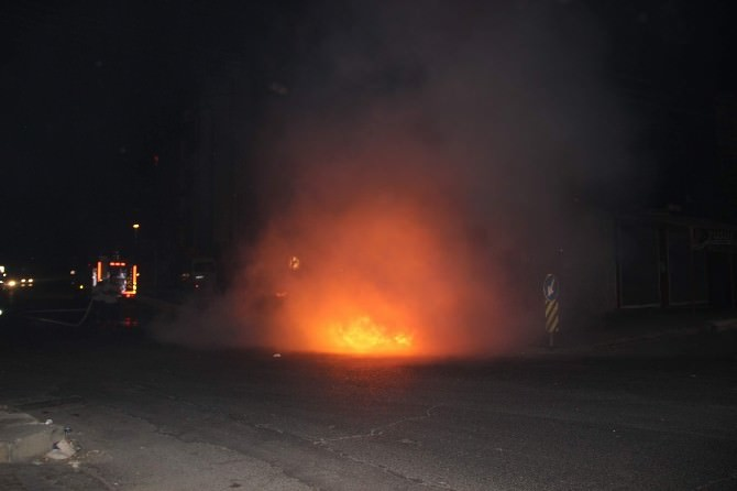 Gaziantep'te Patlama Sonrası Yangın Çıktı