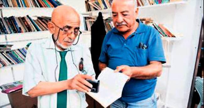 Açık hava kütüphanesi Hamamönü'nde