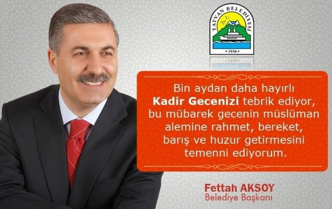 Başkan Aksoy'dan Kadir Gecesi Mesajı