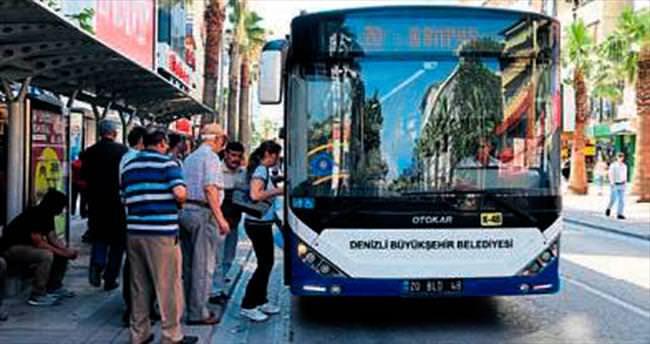 Denizli'de otobüsler bayramda ücretsiz