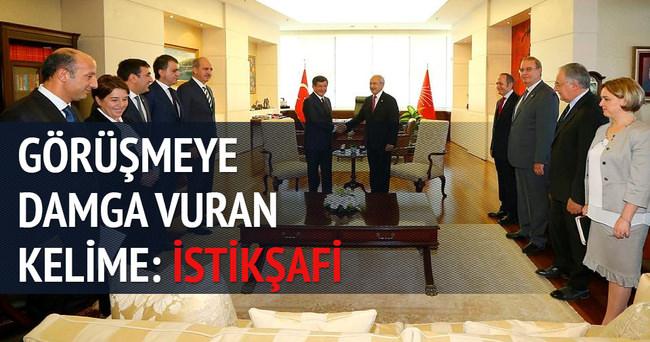 AK Parti-CHP görüşmesine damga vuran kelime: İstikşafi
