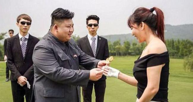 Kuzey Kore liderine benzemek için...
