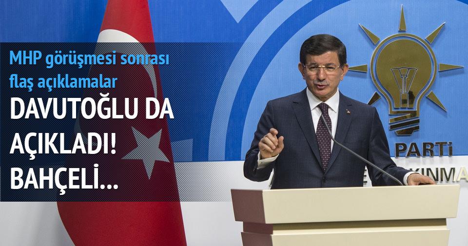 Davutoğlu: Bahçeli hükümette bulunmama tavrını tekrarladı