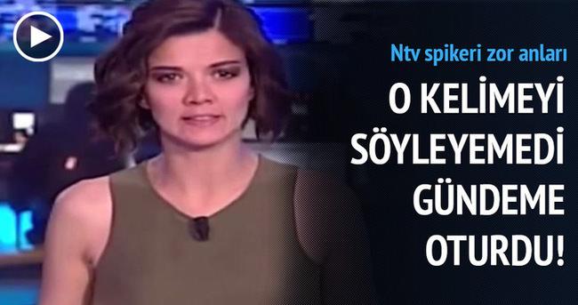 NTV spikerinin zor anları