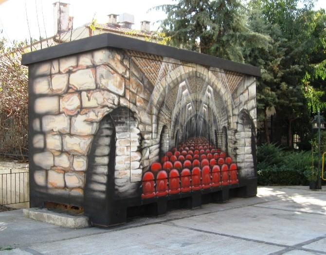 Alanya'da Trafo Binaları Sanatsal Çalışmalarla Güzelleşiyor