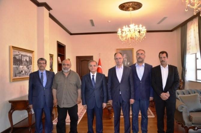 Filistin Ankara Büyükelçisi Dr.faed Mustafa'dan Vali Tapsız'a Ziyaret