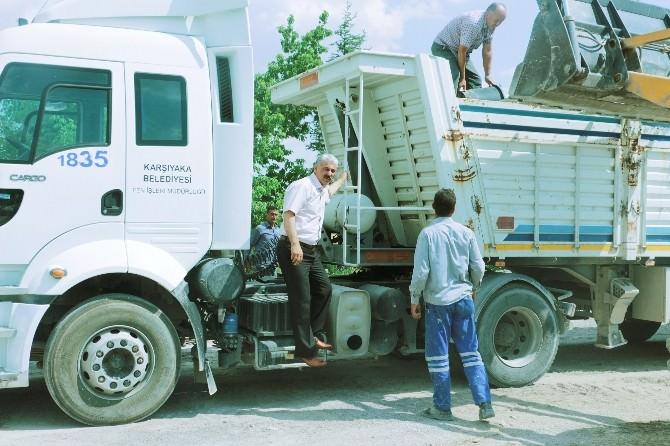 Karşıyaka'dan Kemerhisar'a Yardım