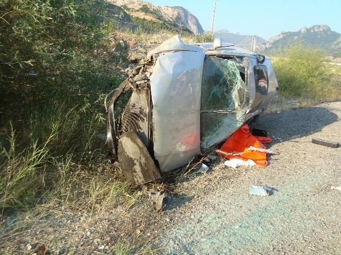 Osmaneli'de Otomobil Takla Attı: 1 Ölü, 4 Yaralı