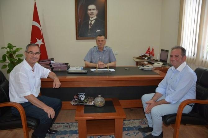 MESOB Başkanı Geriter'den Kaymakam Günlü'ye Ziyaret