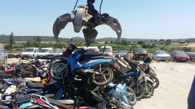 Sahipleri Tarafından Teslim Alınmayan Motosikletler MKE'ye Gitti
