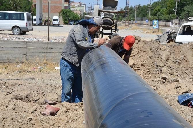 Silvan'da Su Sorunu İçin Kazı Çalışması Yapıldı