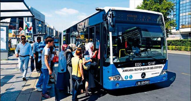 EGO otobüsleri bayramda ücretsiz
