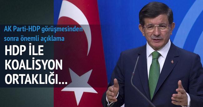 HDP görüşmesinin ardından Başbakan'dan önemli açıklama