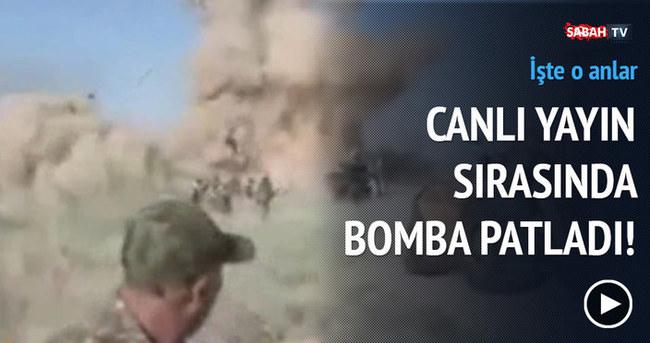Canlı yayın sırasında bomba patladı