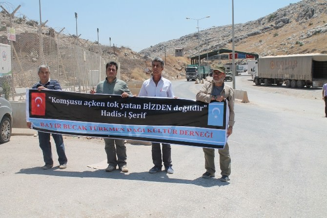 Büyükşehir'den Türkmenlere Kadir Gecesi Gıda Ve Su Desteği