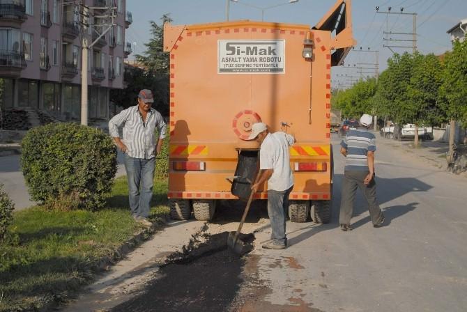 Bolvadin'de Yol Onarım Çalışmaları