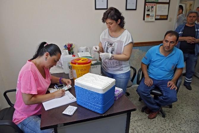 Konak Belediye Personeline Tetanos Aşısı