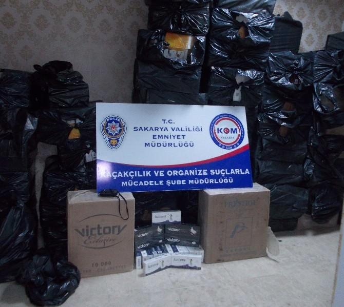 Sakarya'da 63 Bin 500 Paket Kaçak Sigara Ele Geçirildi