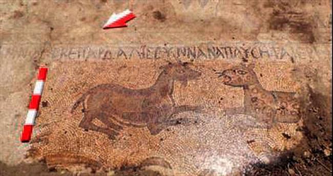 Adana'da İncil'i anlatan mozaik