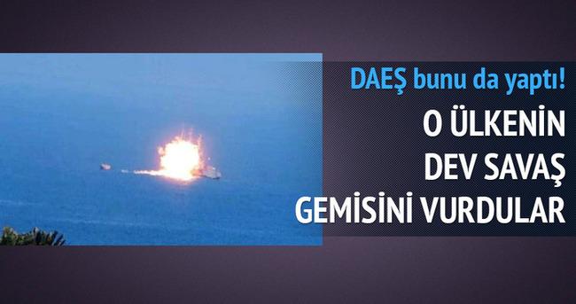 DAEŞ ilk kez savaş gemisi vurdu!
