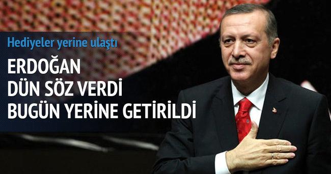 Erdoğan dün söz verdi sabah yerine getirildi