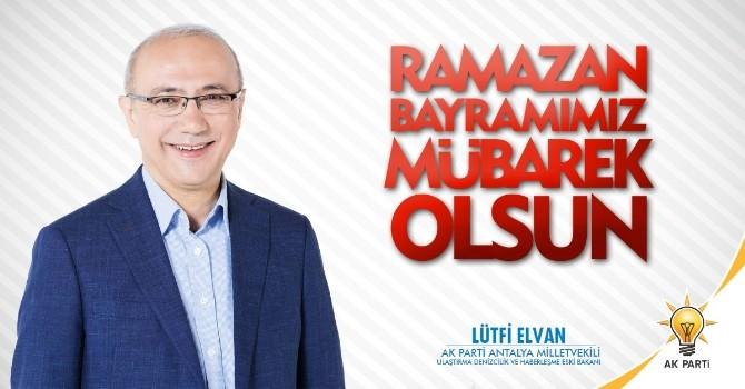 AK Partili Lütfi Elvan'ın Bayram Mesajı
