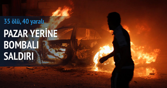Pazar yerine bombalı saldırı: 35 ölü