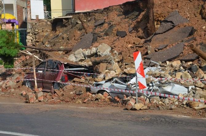 Ordu'da İstinat Duvarı Çöktü