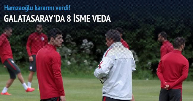 Galatasaray'da 8 oyuncuya veda
