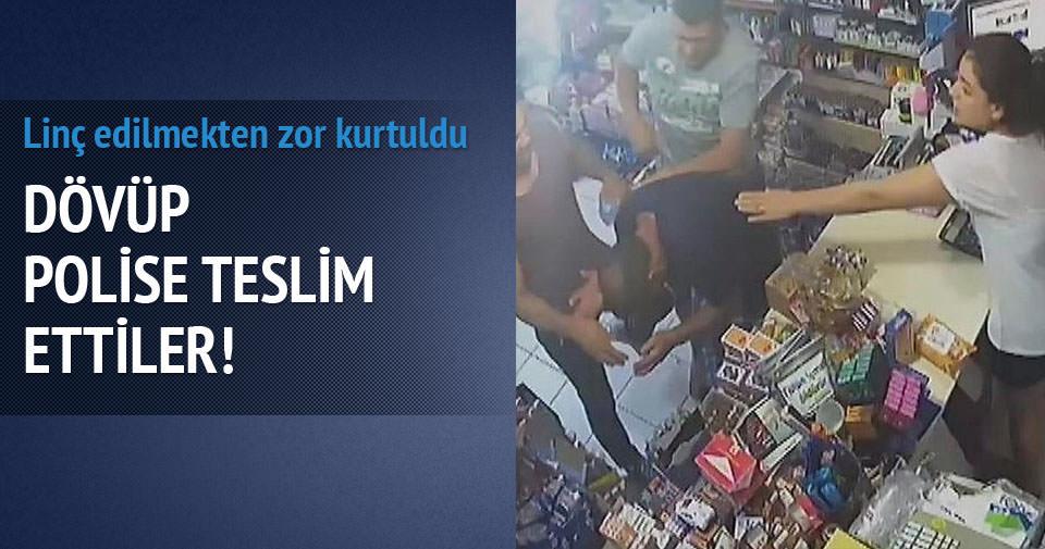 Tacizciyi dövüp polise teslim ettiler