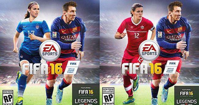 FIFA 16'nın kapağında kadın futbolcular