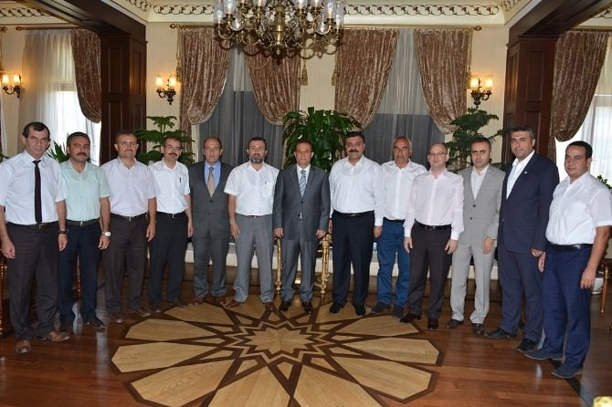 Sendikacılardan Vali Türker'e Ziyaret