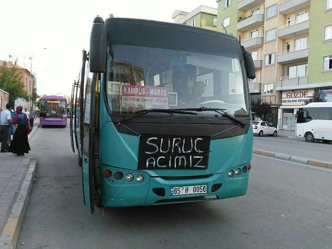 Özel Halk Otobüslerinden Anlamlı Pankart