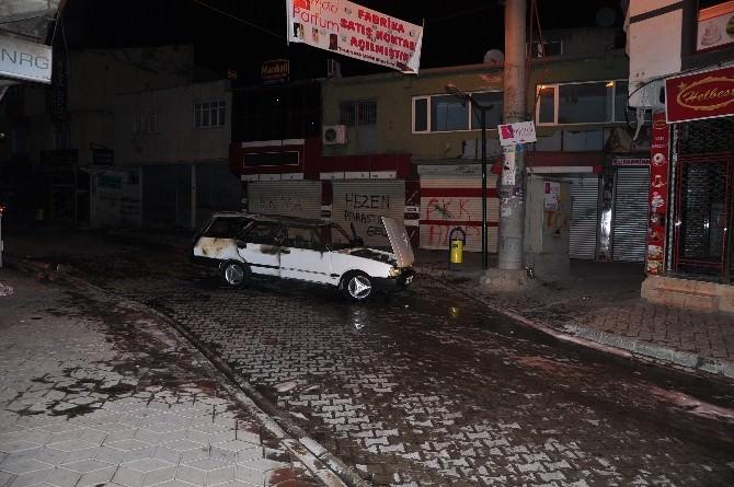 Şırnak'ta Askerin Aracı Ateşe Verildi