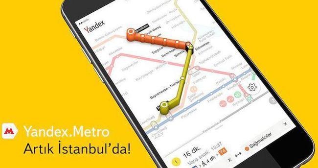 Yandex İstanbul metrosuna girdi