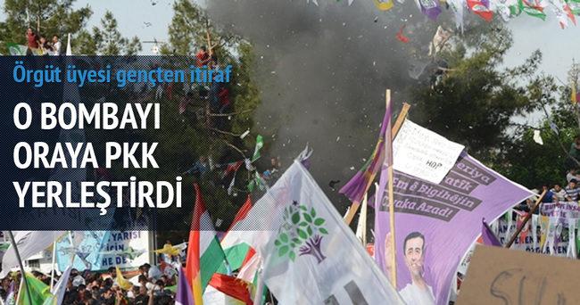 HDP mitingine bombayı PKK yerleştirdi!