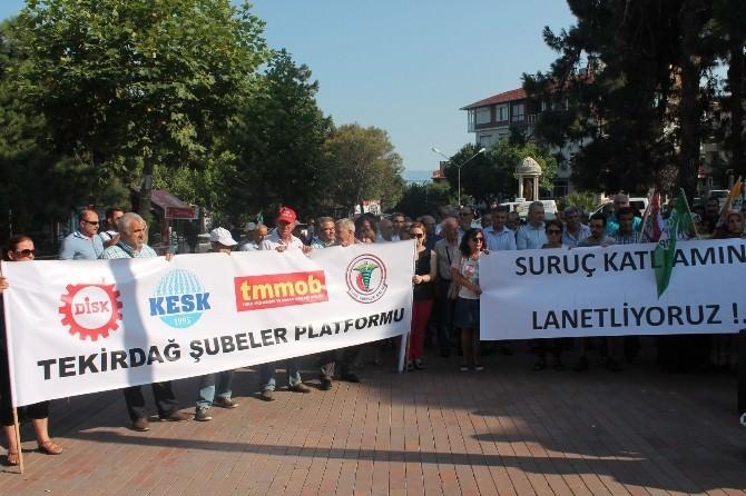 Tekirdağ'da Sivil Toplum Kuruluşları Suruç'taki Saldırıyı Kınadı