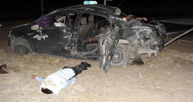 Kına gecesi dönüşü feci kaza: 3 ölü, 4 yaralı