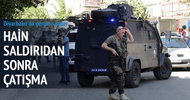 Diyarbakır'daki hain saldırı sonrası çatışma başladı