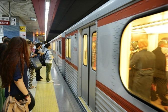 Batıkent-kızılay Metro Hattında Bakım Çalışması…