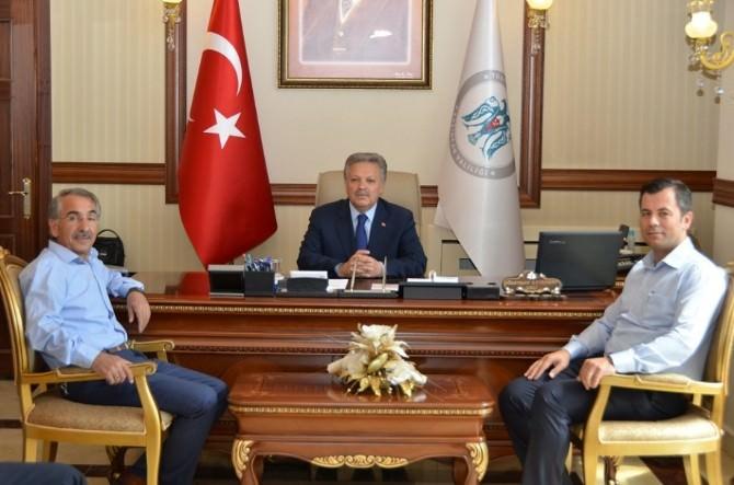 AK Parti Erzincan Milletvekili Dr. Talha Erol Durmaz'dan Vali Kahraman'a Ziyaret