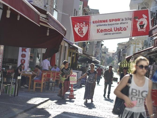 Esnaftan Edirnespor'a Pankartlarla Destek