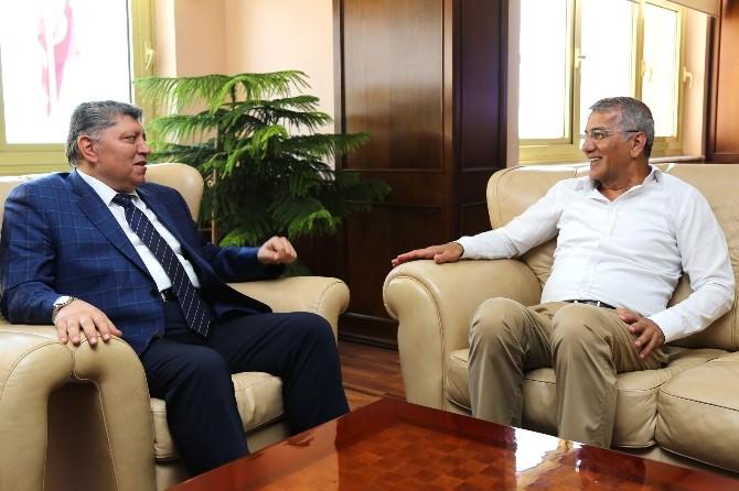 Başkan Tarhan'dan Mersin Emniyet Müdürüne Ziyaret