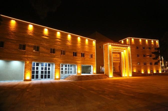 Valilik Binası Işıklandırıldı