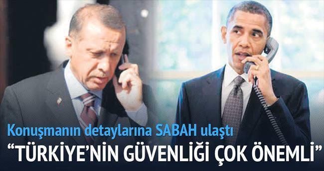 Türkiye'nin güvenliği bizim için önemli