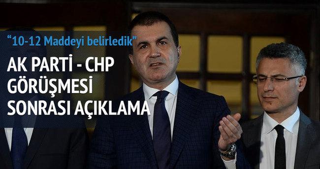AK Parti-CHP görüşmesi sonrası açıklama